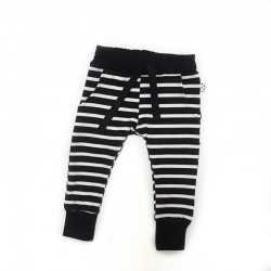Black Stripes Joggers
